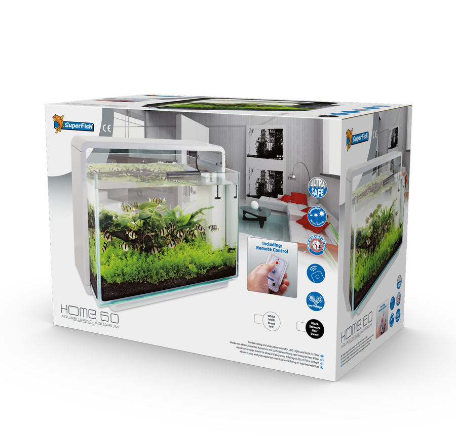 SuperFish Aquarium HOME 60 - Blanc