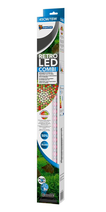 SuperFish Retro LED combi T8 & JUVEL T5 - 15W 45cm