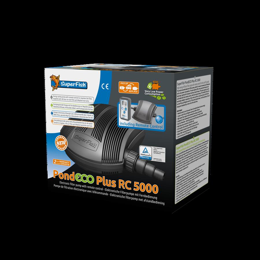 SuperFish Pompe + télécommande PondECO Plus RC 5000