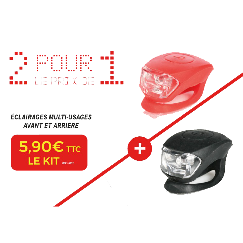 Kit éclairage LED Rouge / blanc