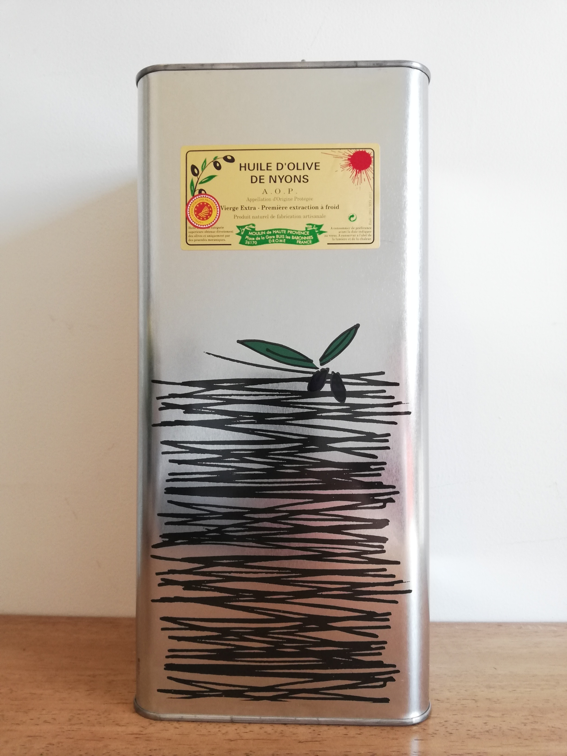 Huile d\'Olive AOP Nyons 5 L