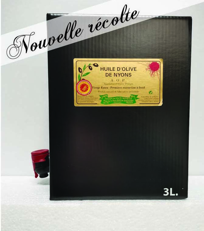 Huile d\'olive AOP Nyons 3L