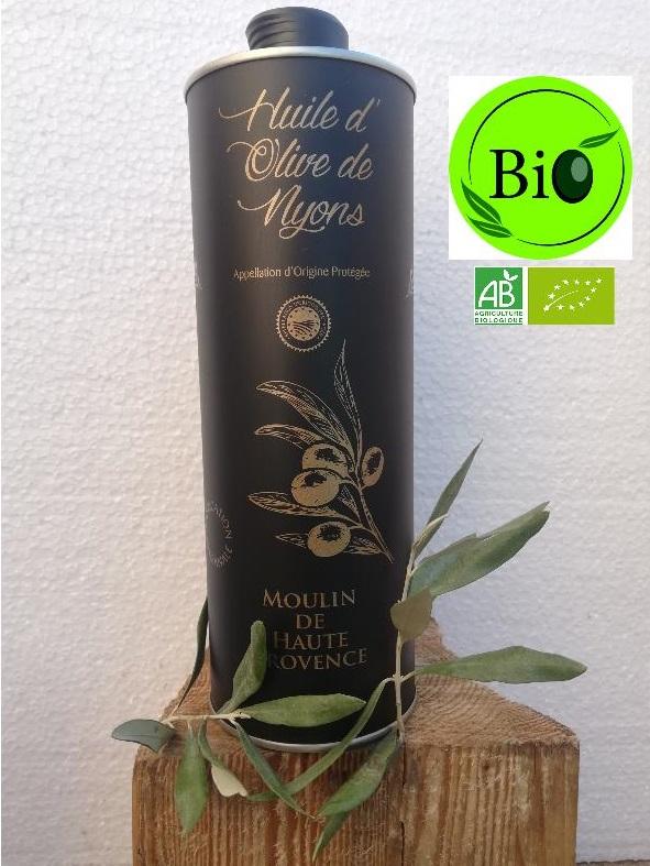 Huile d\'Olive AOP Nyons Biologique 1 L