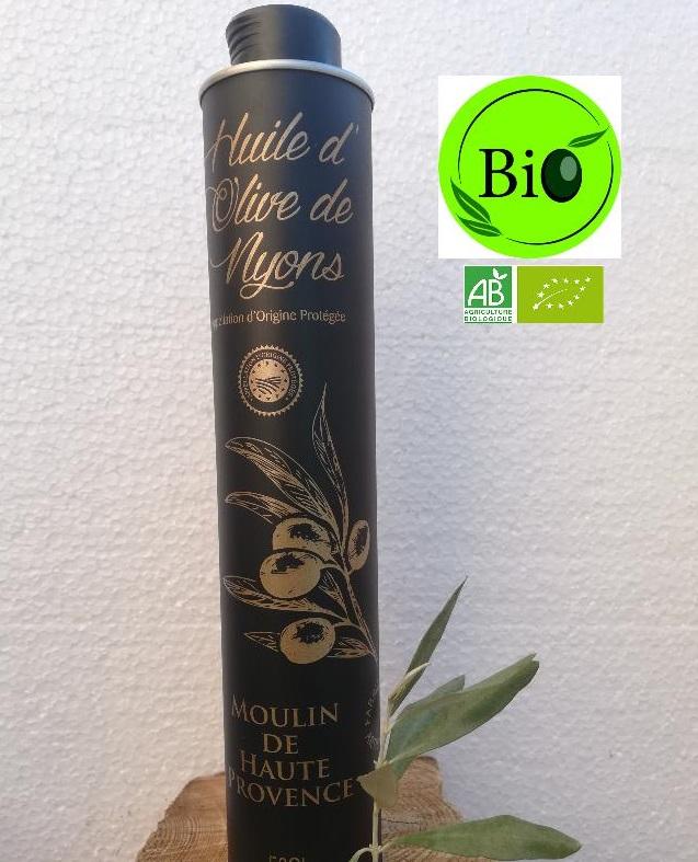 Huile d\'Olive AOP Nyons Biologique 50 cL