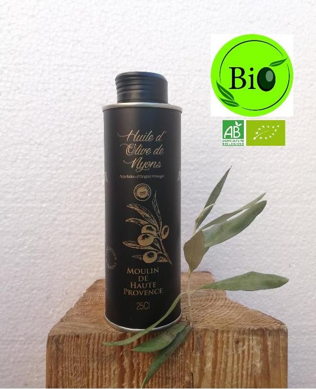 Huile d\'Olive AOP Nyons Biologique 25 cL