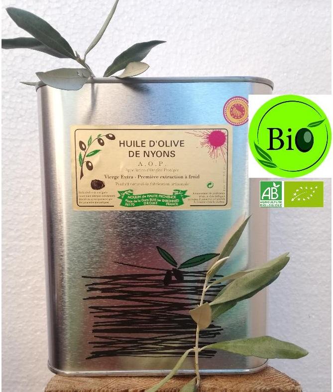 Huile d\'Olive AOP Nyons Biologique 2 L