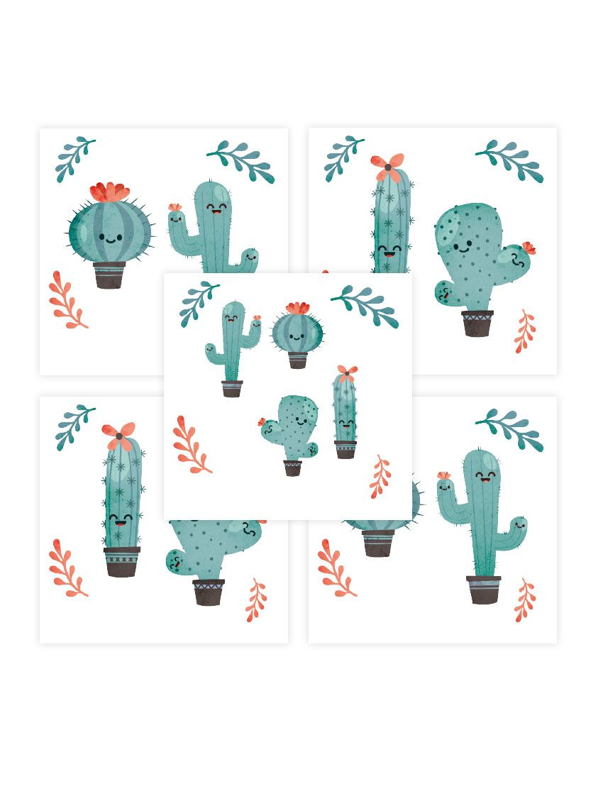 Cactus - PaperMint - Stickers set de 5 planches