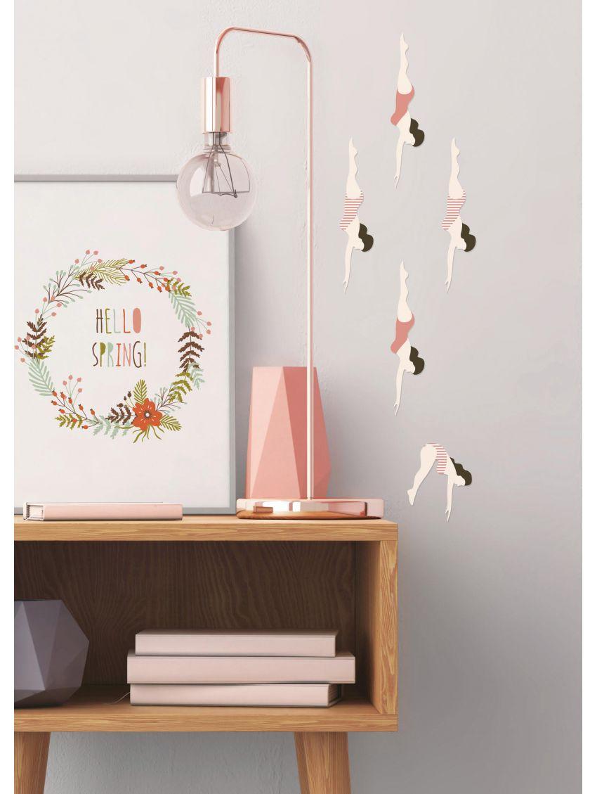 Les plongeuses - Papermint - Stickers set de 5 planches