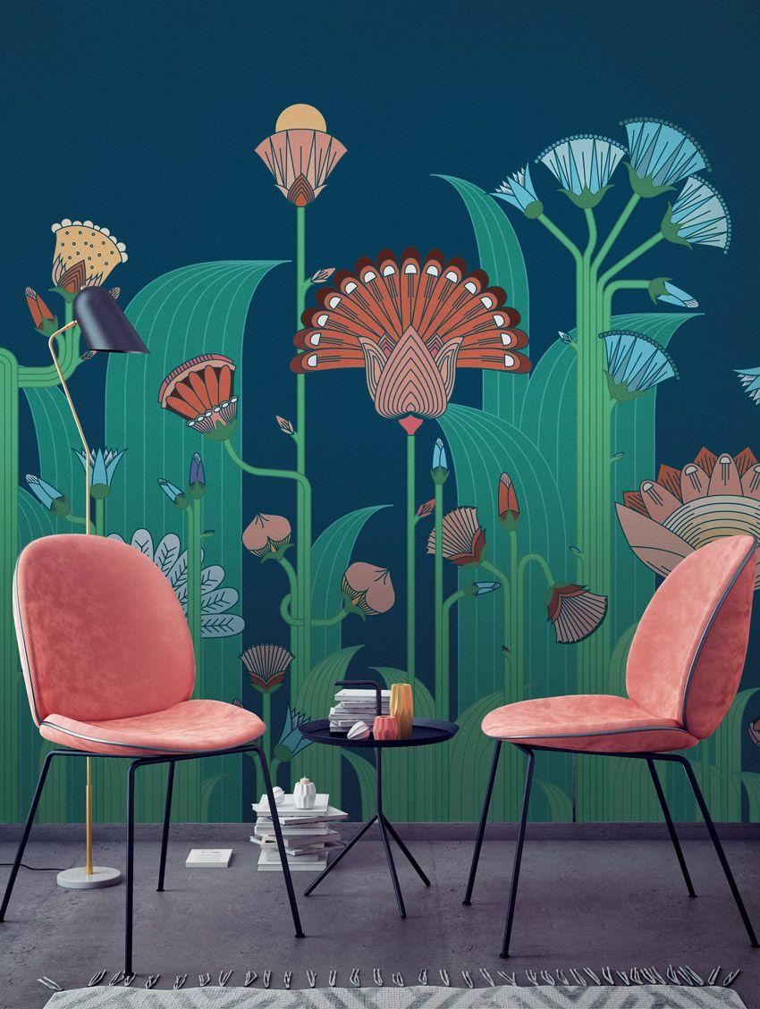 Jardin Exotique - PaperMint - fresque - H250 x L234cm