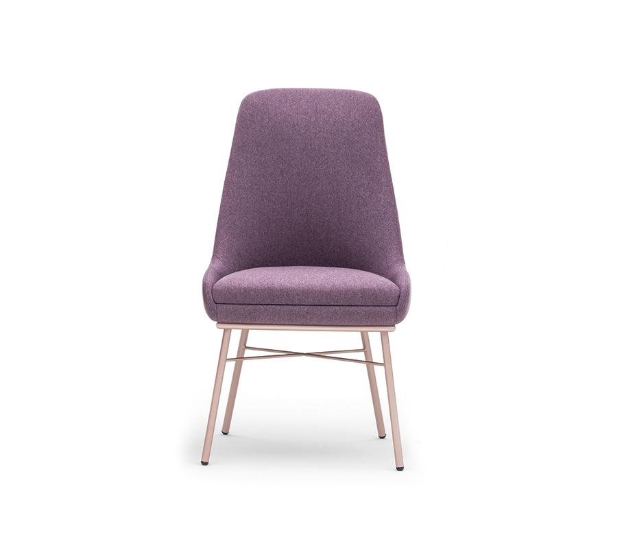 Chaise à haut dossier contemporaine - Danielle Montbel - Lot de 2