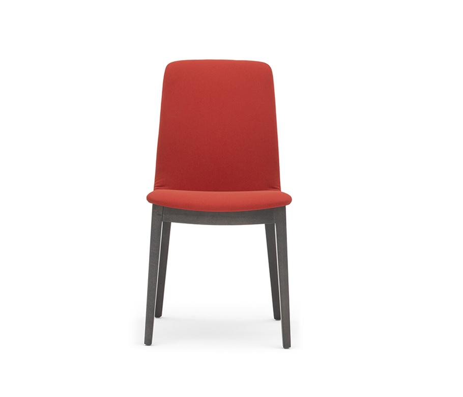 Chaise rembourée tissu pieds bois - Light Montbel - Lot de 2