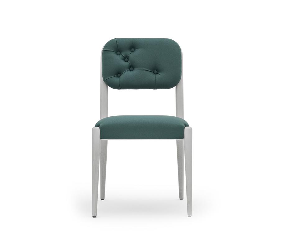 Chaise design dossier capitonné - Garbo Montbel - Lot de 2