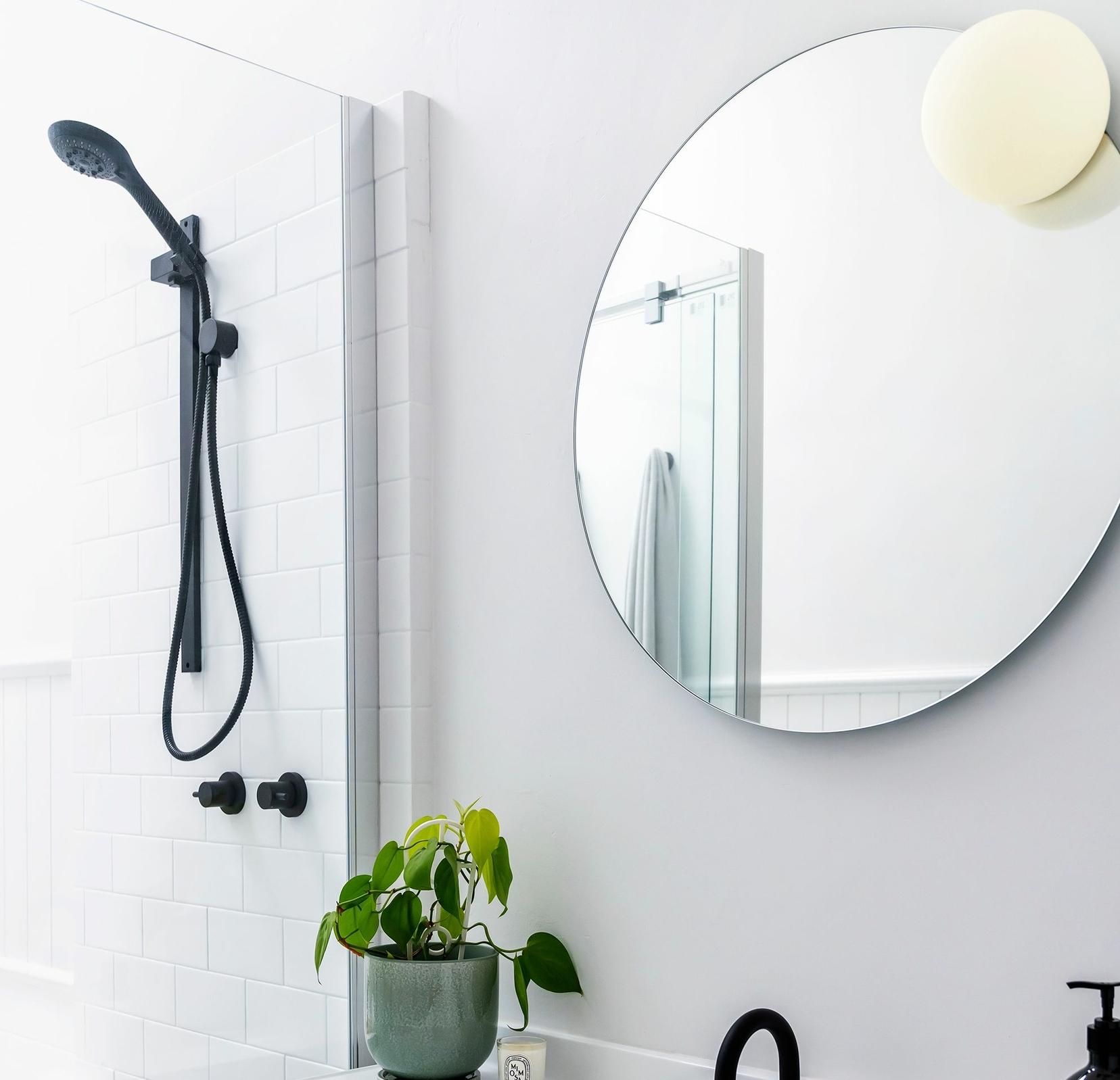 Applique murale lumineuse miroir rond grand format avec désembuage - Circ Estiluz