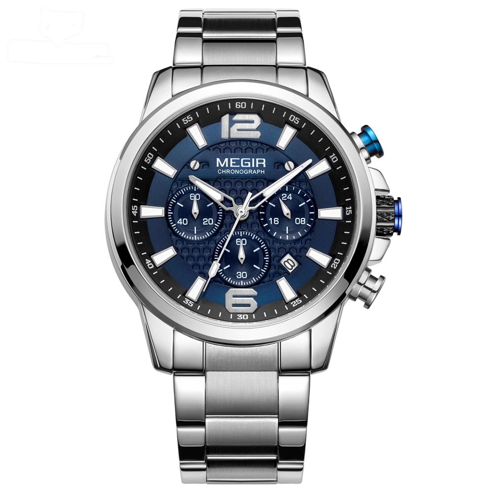 Time Korner-montre homme bracelet acier-collection Bogota montre chronographe homme
