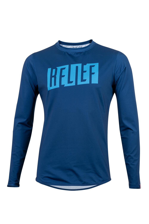 Maillot VTT Homme | Calade Manches Longues Bleu