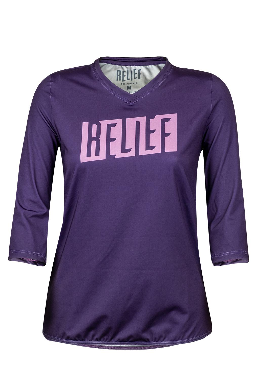 Maillot VTT Femme | Calade manches 3/4 Violet