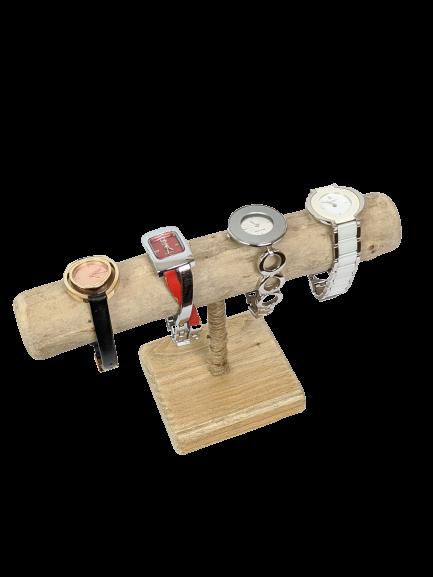 Support montres & bracelets en bois flotté