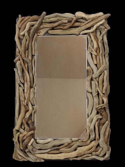 Miroir rectangulaire en bois flotté