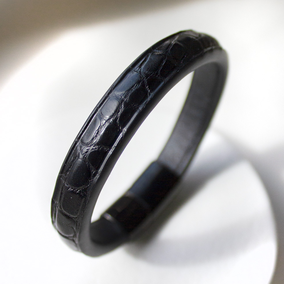 Bracelet Croco Noir