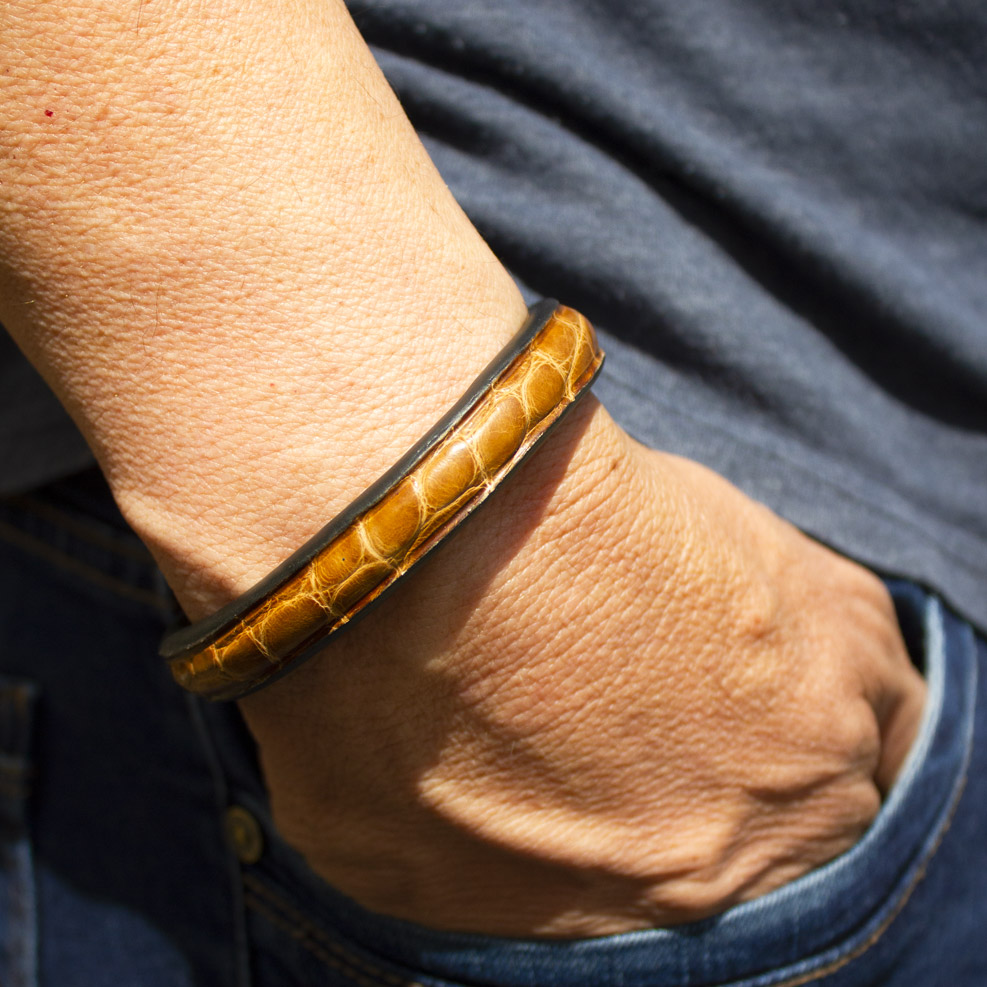 bracelet Croco Marron
