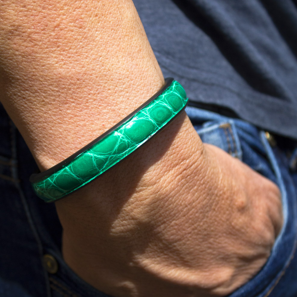 Bracelet Croco Vert