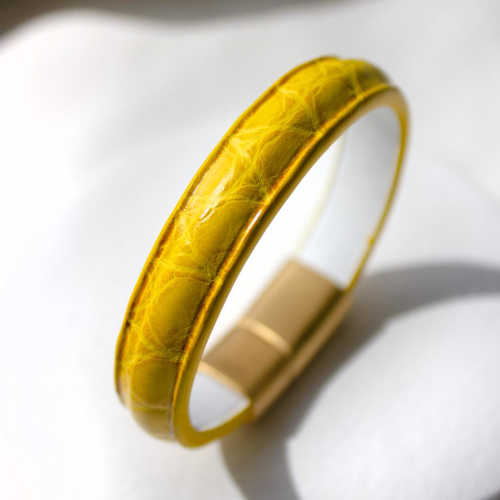 Bracelet Croco Jaune