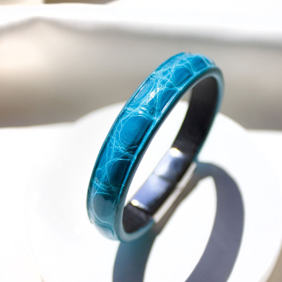 Bracelet Croco Turquoise