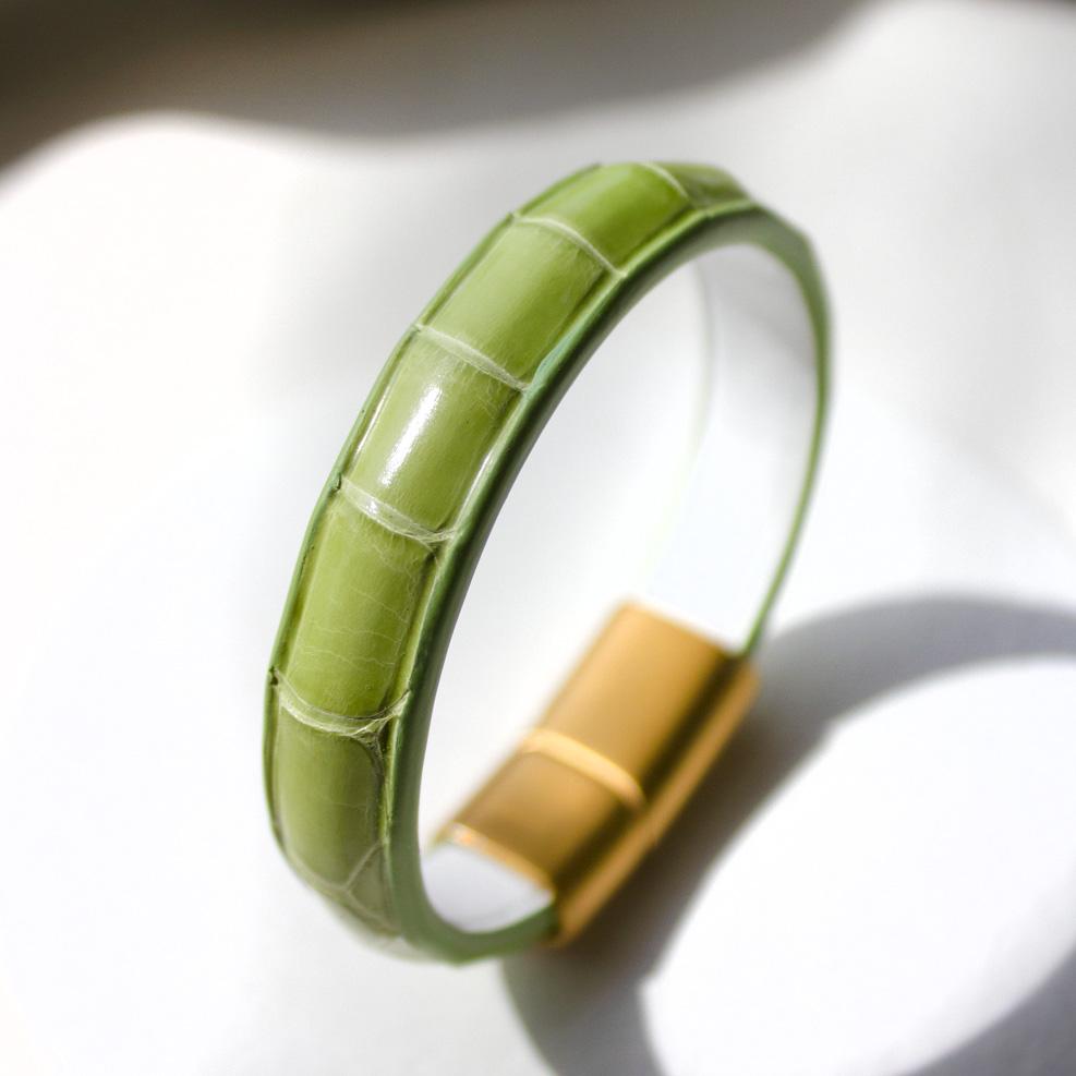 Bracelet Croco Vert Tilleul