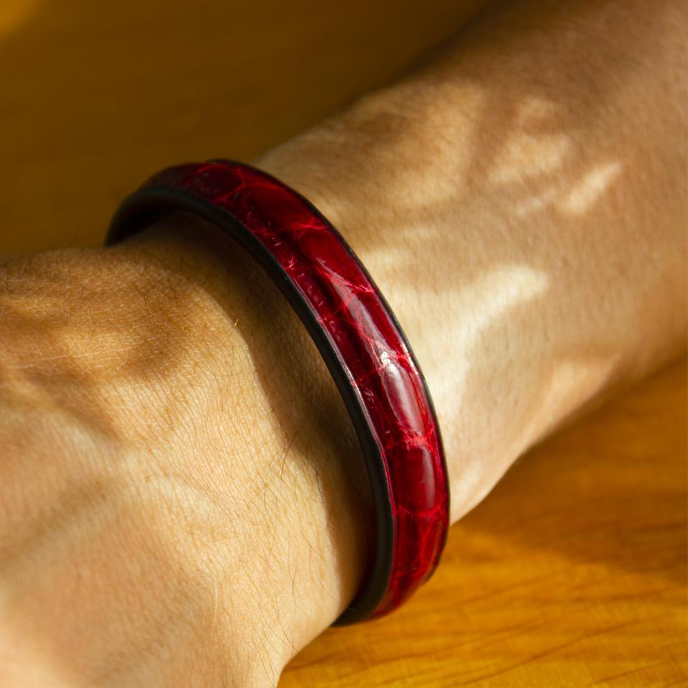 Bracelet Croco Rouge