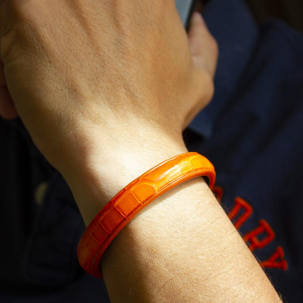 Bracelet Croco Orange