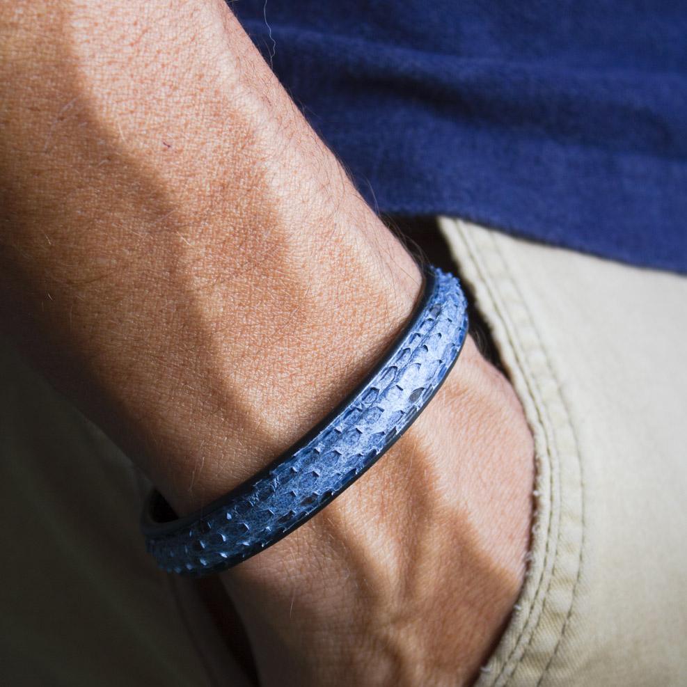 Bracelet Python Bleu Jean