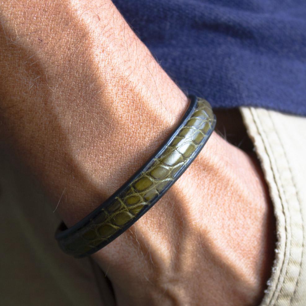 Bracelet Croco Kaki