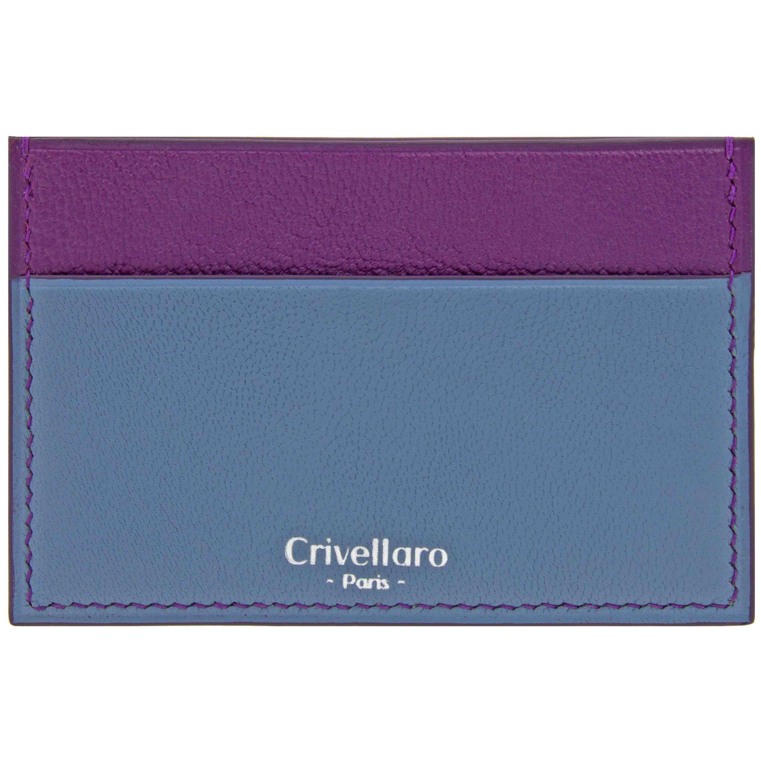 Crivellaro portes cartes SLIM Bleu et Violet