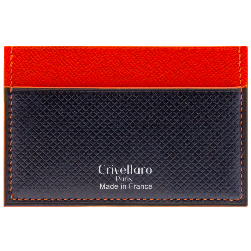 Crivellaro-Porte-carte-Cuir-Orange-cuir-bleu-Russie-1