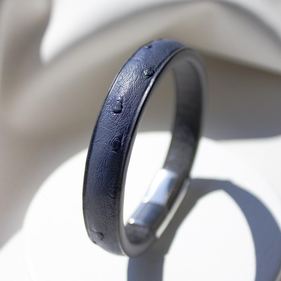 Bracelet Autruche Bleu