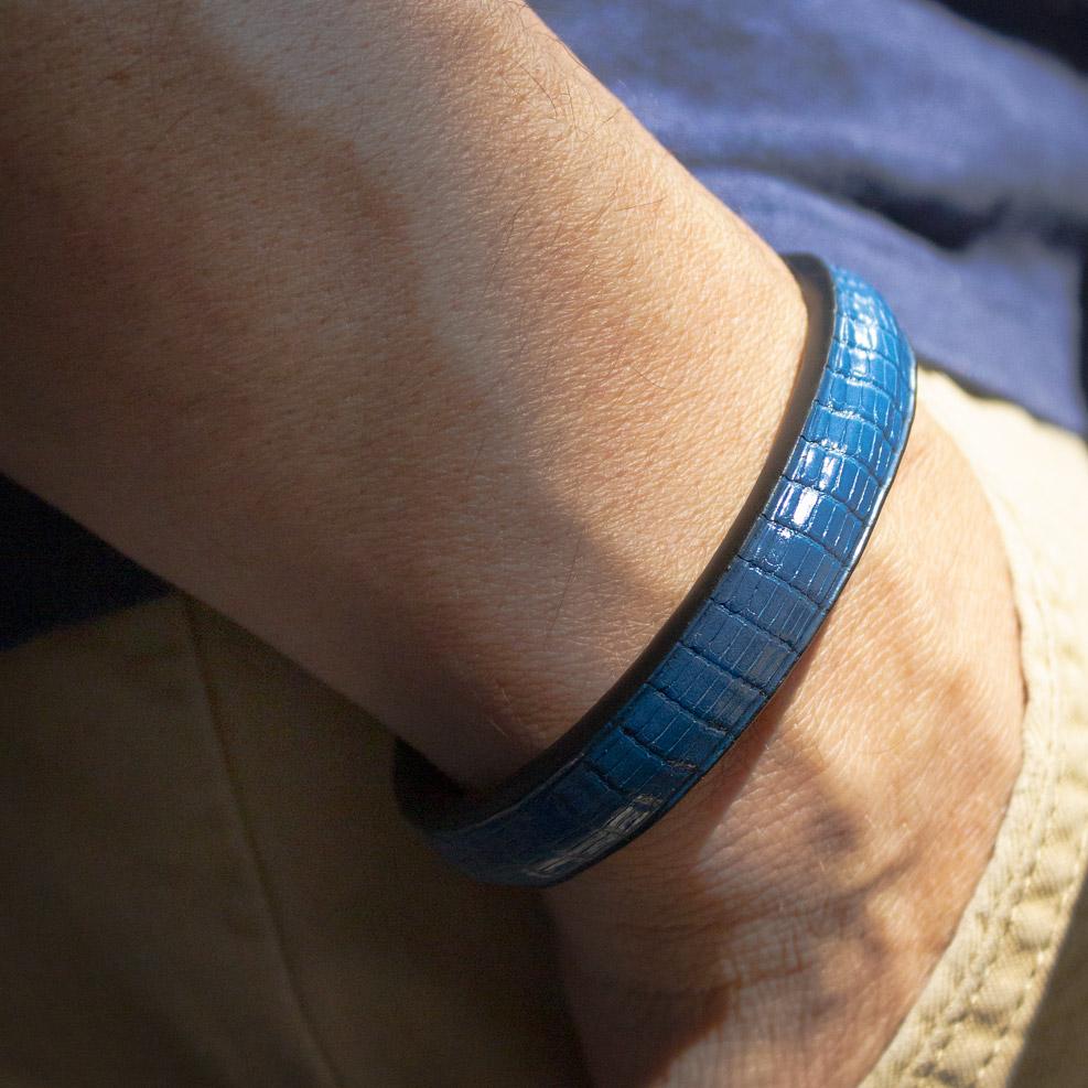 Bracelet Lézard Bleu Ocean
