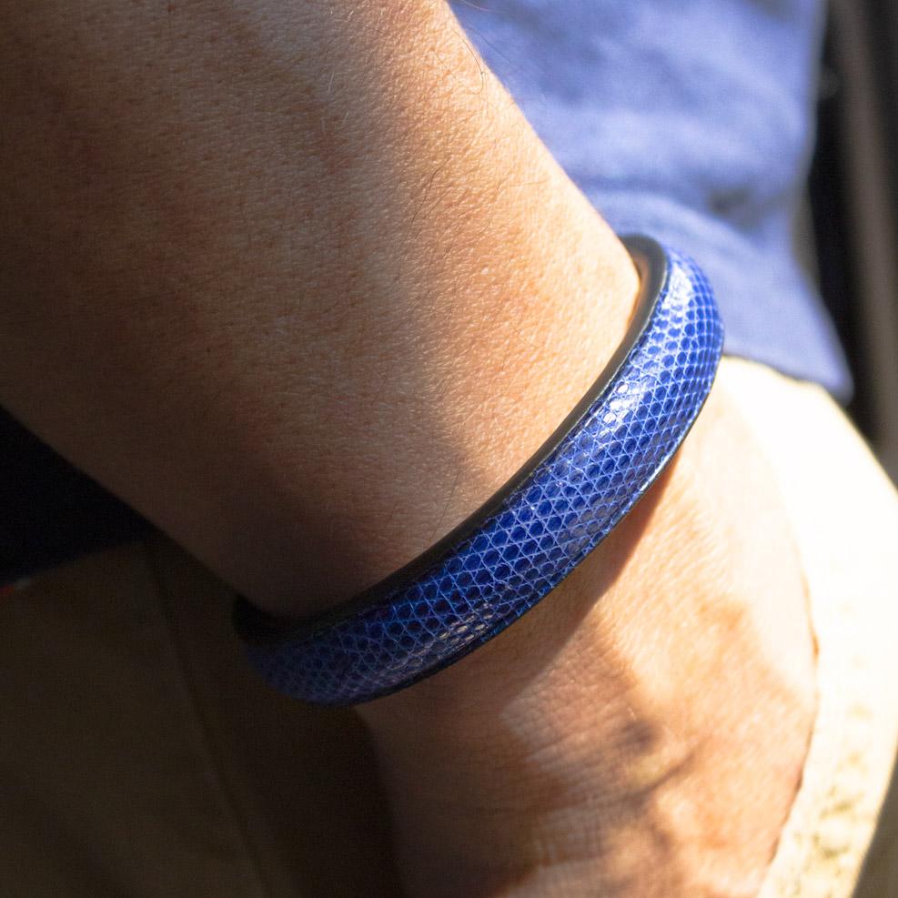 Bracelet Lézard Bleu Electrique