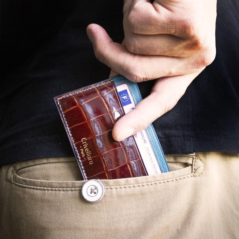Porte-cartes Croco