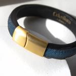 Crivellaro-Bracelet-galuchat-Bleu-Femme-2