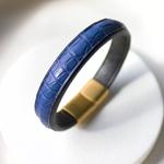 Crivellaro-Bracelet-Croco-Bleu-Femme-1