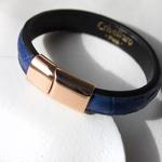 Crivellaro-Bracelet-Croco-Bleu-Femme-3