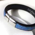 Crivellaro-Bracelet-Croco-Bleu-Clair-Homme-5