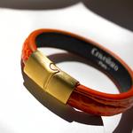 Crivellaro-Bracelet-Croco-Orange-Femme-3