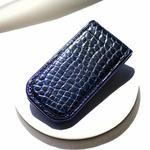 Crivellaro-Pince-Billet-croco--Noir-bleu-1