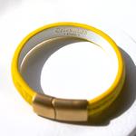 Crivellaro-Bracelet-croco-Jaune-3