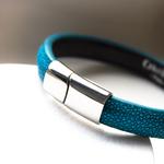 Crivellaro-Bracelets-galuchat-turquoise-5