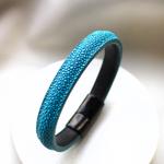 Crivellaro-Bracelets-galuchat-turquoise