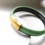 Crivellaro-Bracelets-galuchat-vert-clair-2