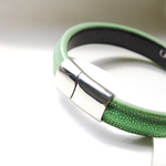 Crivellaro-Bracelets-galuchat-vert-clair-5