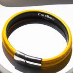 Crivellaro-Bracelets-galuchat-jaune-2